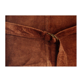 Rich Brown Suede With Strap And Buckle Photograph Acrylic Wall Art