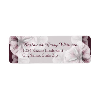 Rich Burgundy with Pink Flowers Label