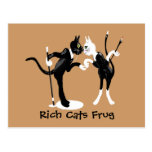 Rich cats Frug Postcard