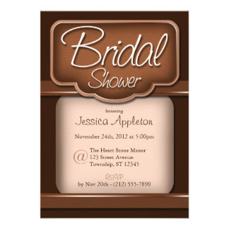 Rich Chocolate Bridal Shower Invitations