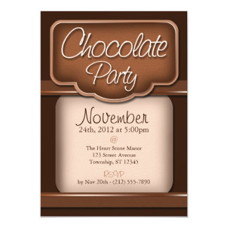 """Rich Chocolate : """"Chocolate Party"""" Invitations"""