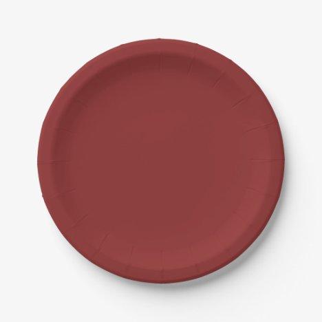 Rich Cocoa-Colored Paper Plates