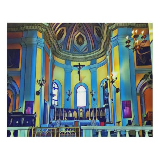 Rich Colored Artistic Sanctuary Panel Wall Art