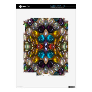 Rich Colored Glass Droplets Decal For iPad 2