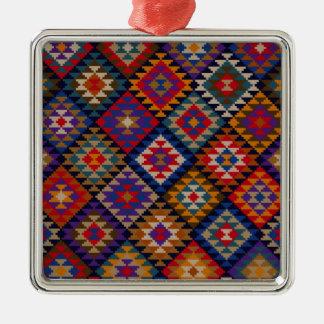 Rich Colored Indian Pattern Metal Ornament