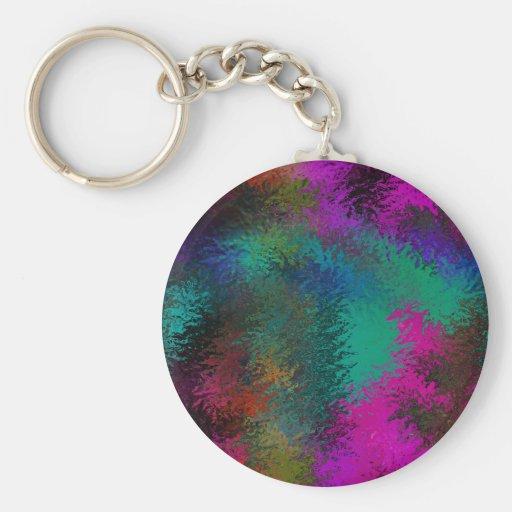 Rich Colorful Splatter Galore Design Keychains