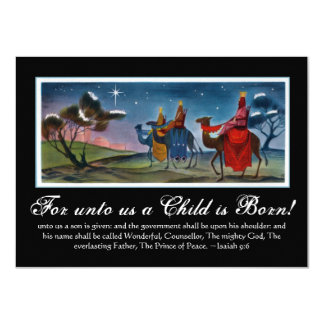 Rich Colorful Wisemen Painting Christian Christmas Card