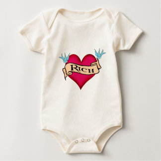 Rich - Custom Heart Tattoo T-shirts & Gifts
