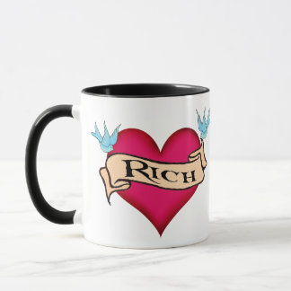 Rich - Custom Heart Tattoo T-shirts & Gifts Mug