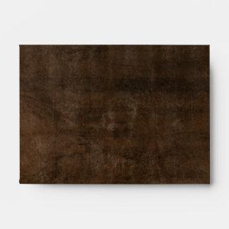 Rich Dark Mottled Brown- A6 Envelope