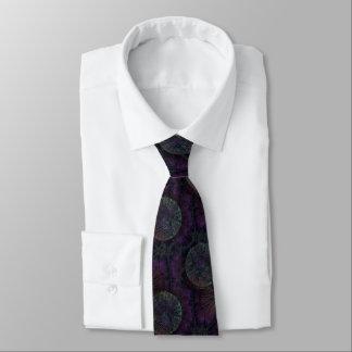 Rich, Earthy Fractal with Geometric Pattern Neck Tie