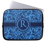 Rich Elegant Blue Floral William Morris Pattern Laptop Sleeve