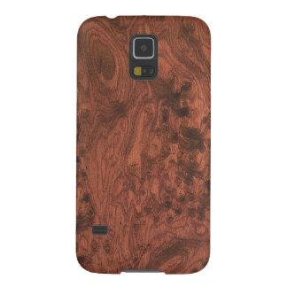 Rich Elegant Mahogany Wood Grain Texture Galaxy S5 Case