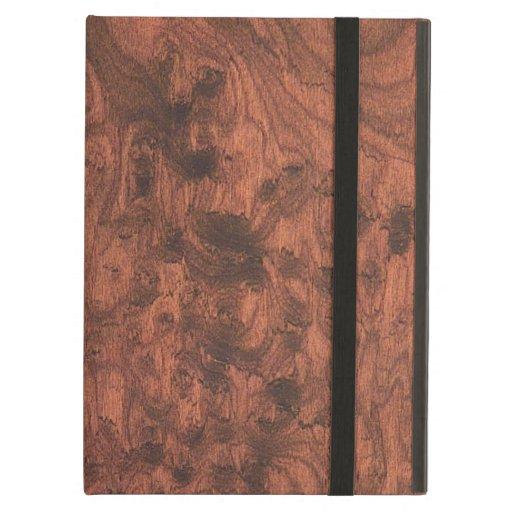 Rich Elegant Mahogany Wood Grain Texture iPad Folio Case