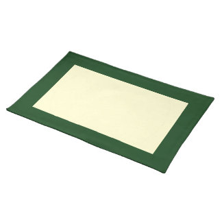 Rich Emerald and Cream Placemat