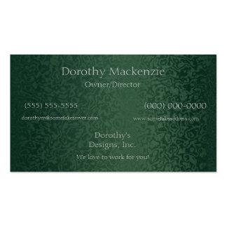 Rich Emerald Green Business Card