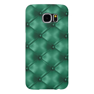Rich Emerald Green Leather Bespoke Statement Color Samsung Galaxy S6 Case