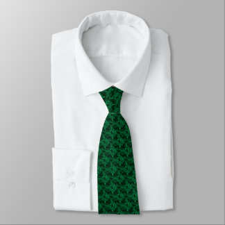 Rich emerald green velvety roses floral photo tie