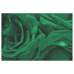 Rich emerald green velvety roses floral photo tissue paper