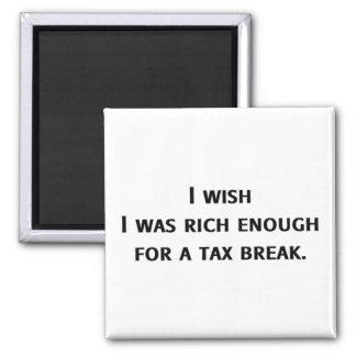 Rich Enough 2 Inch Square Magnet