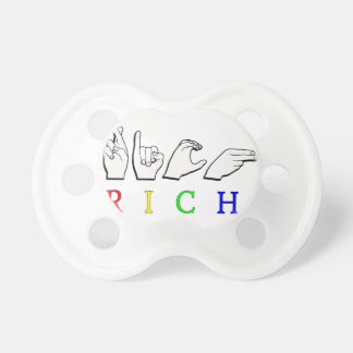 RICH FINGERSPELLED NAME SIGN ASL PACIFIER