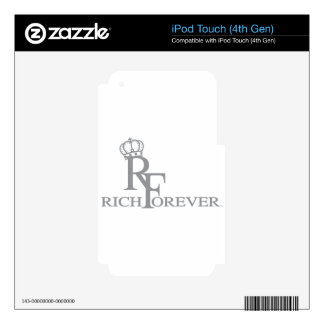 Rich forever_11.ai decals for iPod touch 4G