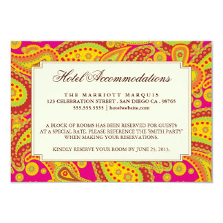 """Rich Gold Paisley Pattern Party Enclosure Card 3.5"""" X 5"""" Invitation Card"""