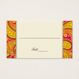 Rich Gold Paisley Pattern Party Table Seating Card