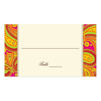 Rich Gold Paisley Pattern Party Table Seating Card Business Card