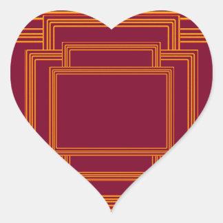 RICH Golden Streak Borders Heart Sticker