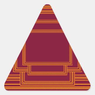 RICH Golden Streak Borders Triangle Sticker