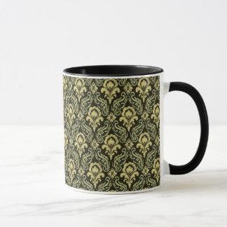 Rich Green Damask Mug