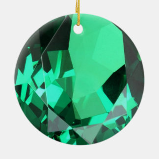 Rich green Emerald May birthstone Ceramic Ornament
