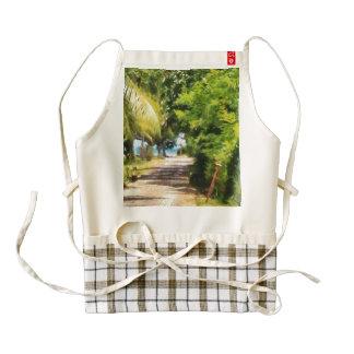Rich green path zazzle HEART apron