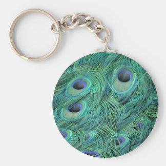 Rich Green Peacock Keychain