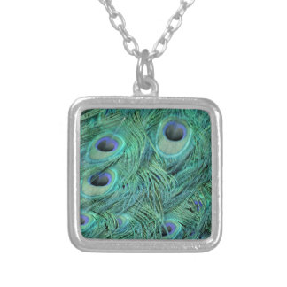 Rich Green Peacock Silver Plated Necklace