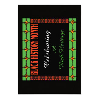 Rich Heritage BHM Party Invitations