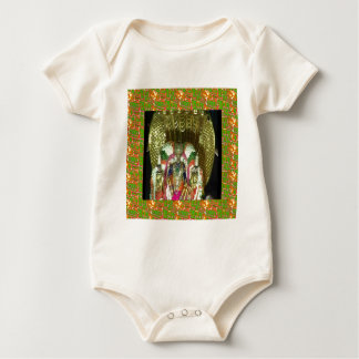 RICH HERITAGE Tirupati Temple: Lord Vishnu Baby Bodysuits