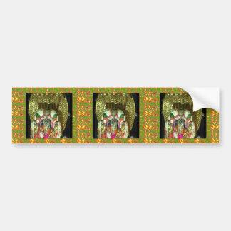 RICH HERITAGE Tirupati Temple: Lord Vishnu Car Bumper Sticker