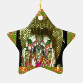 RICH HERITAGE Tirupati Temple: Lord Vishnu Double-Sided Star Ceramic Christmas Ornament