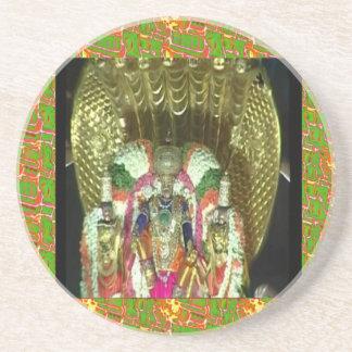 RICH HERITAGE Tirupati Temple: Lord Vishnu Drink Coasters