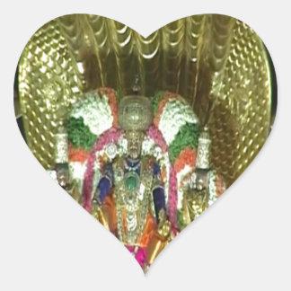RICH HERITAGE Tirupati Temple: Lord Vishnu Heart Sticker