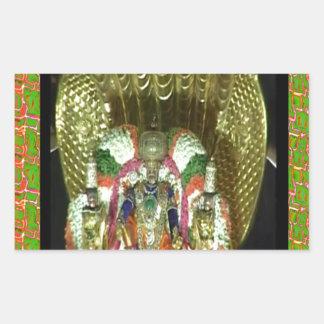 RICH HERITAGE Tirupati Temple: Lord Vishnu Rectangular Sticker