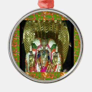RICH HERITAGE Tirupati Temple: Lord Vishnu Round Metal Christmas Ornament