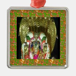 RICH HERITAGE Tirupati Temple: Lord Vishnu Square Metal Christmas Ornament