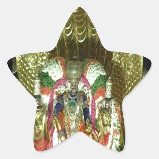 RICH HERITAGE Tirupati Temple: Lord Vishnu Star Sticker