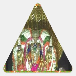 RICH HERITAGE Tirupati Temple: Lord Vishnu Triangle Sticker