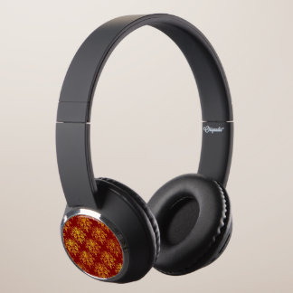 Rich Holiday Damask Headphones