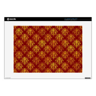 Rich Holiday Damask Laptop Decals