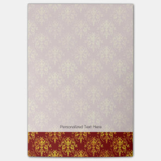 Rich Holiday Damask Post-it Notes